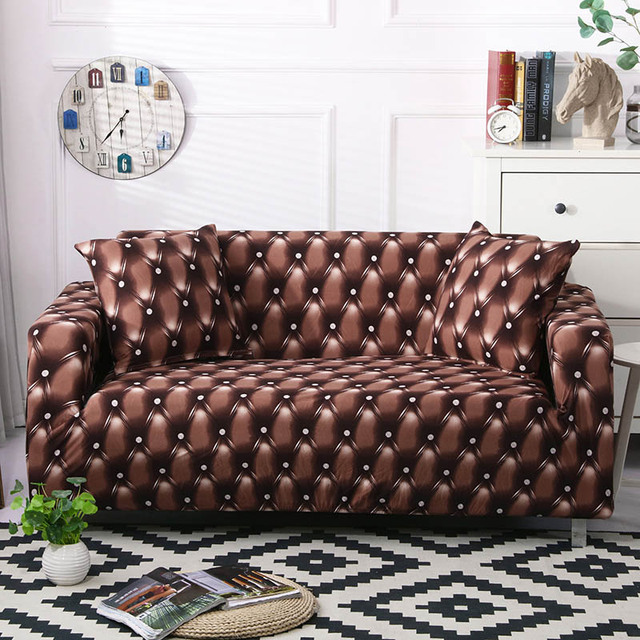 Фото эластичный чехол для дивана растягивающийся современный чехлы