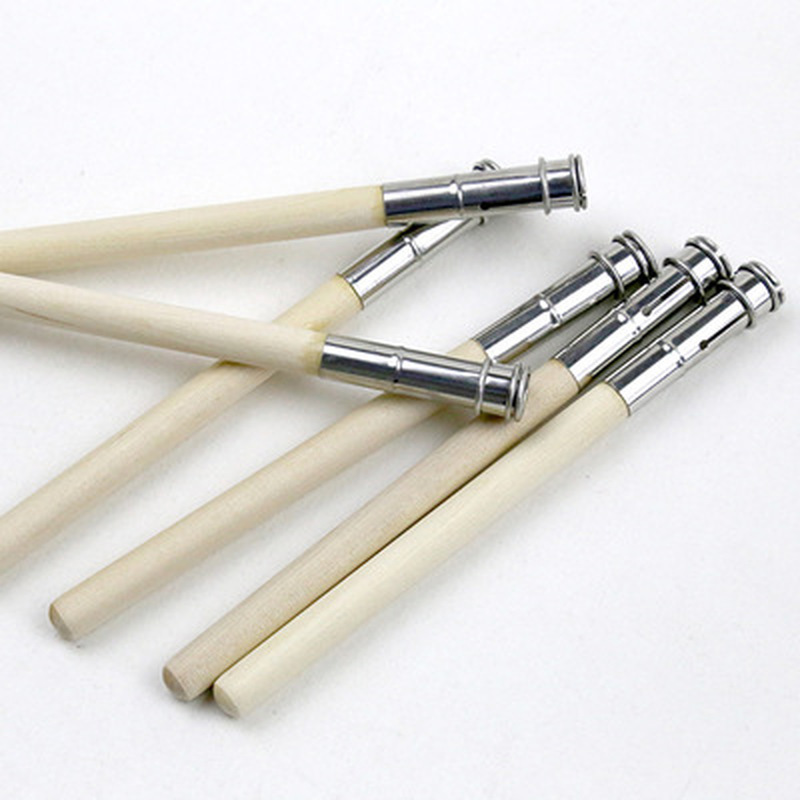2Pcs Adjustable Single Head Wood Penholder Extend Pencil Holder Extender School Office Painting Tool Art Pencil Supplies Topper