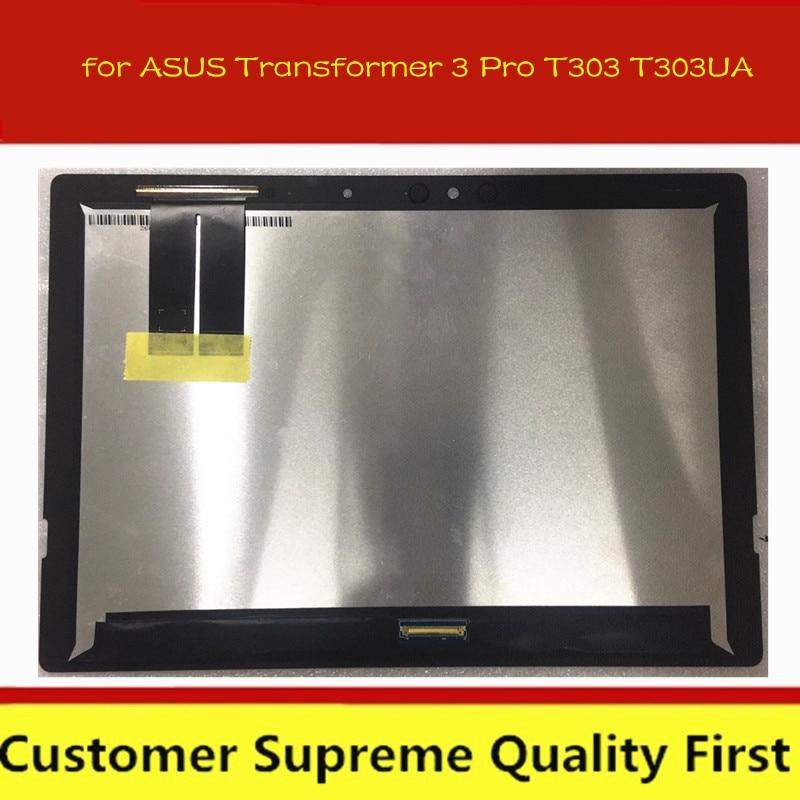 """الأصلي 12.6 """"LCD + شاشة تعمل باللمس محول الأرقام الجمعية ل ASUS محول 3 برو T303 T303UA WQHD + 2880*1920"""