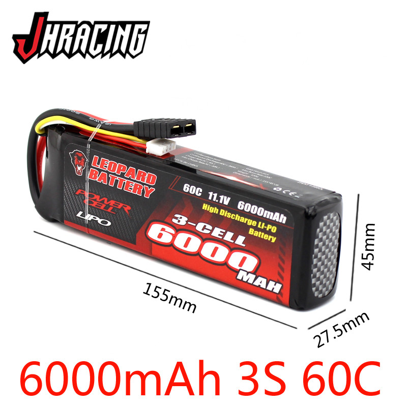 LEOPARD <font><b>6000MAH</b></font> 60C 11.1V <font><b>3S</b></font> high discharge <font><b>LIPO</b></font> battery for UDR E-REVO XO-1 image