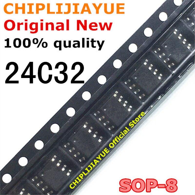 Новый и оригинальный чипсет IC AT24C32 24C32 SOP8 24C32N 24C32AN SOP-8 SMD, 10 шт.
