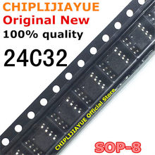 10 pces at24c32 24c32 sop8 24c32n 24c32an sop-8 smd novo e original ic chipset