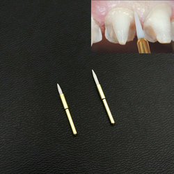 1 pçs dentes branqueamento dental cirúrgico dental cerâmica macio aparador de tecido/aparamento dental ferramenta implante 21mm/23mm