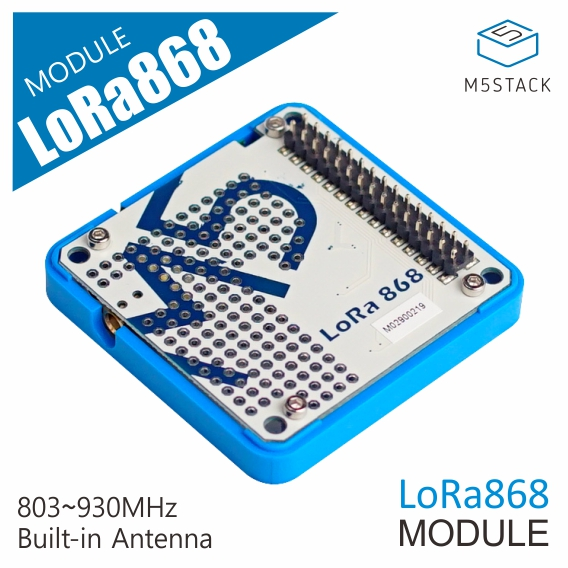M5STACK Official LoRa Module 868MHz Communicate Module Ra-01H With Prototyping Area  SPI Communication Protocol