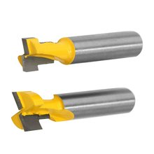 2PCS Set 8mm Shank T-Slot Keyhole Router Bits Woodworking Cutter Wood Milling with High Toughness