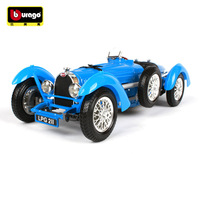 Burago 1/18 Scale Simulation Alloy Master Car Model Toy For 1934 Bugatti Type 59 Classic Car Model Decoration For man Kids gift