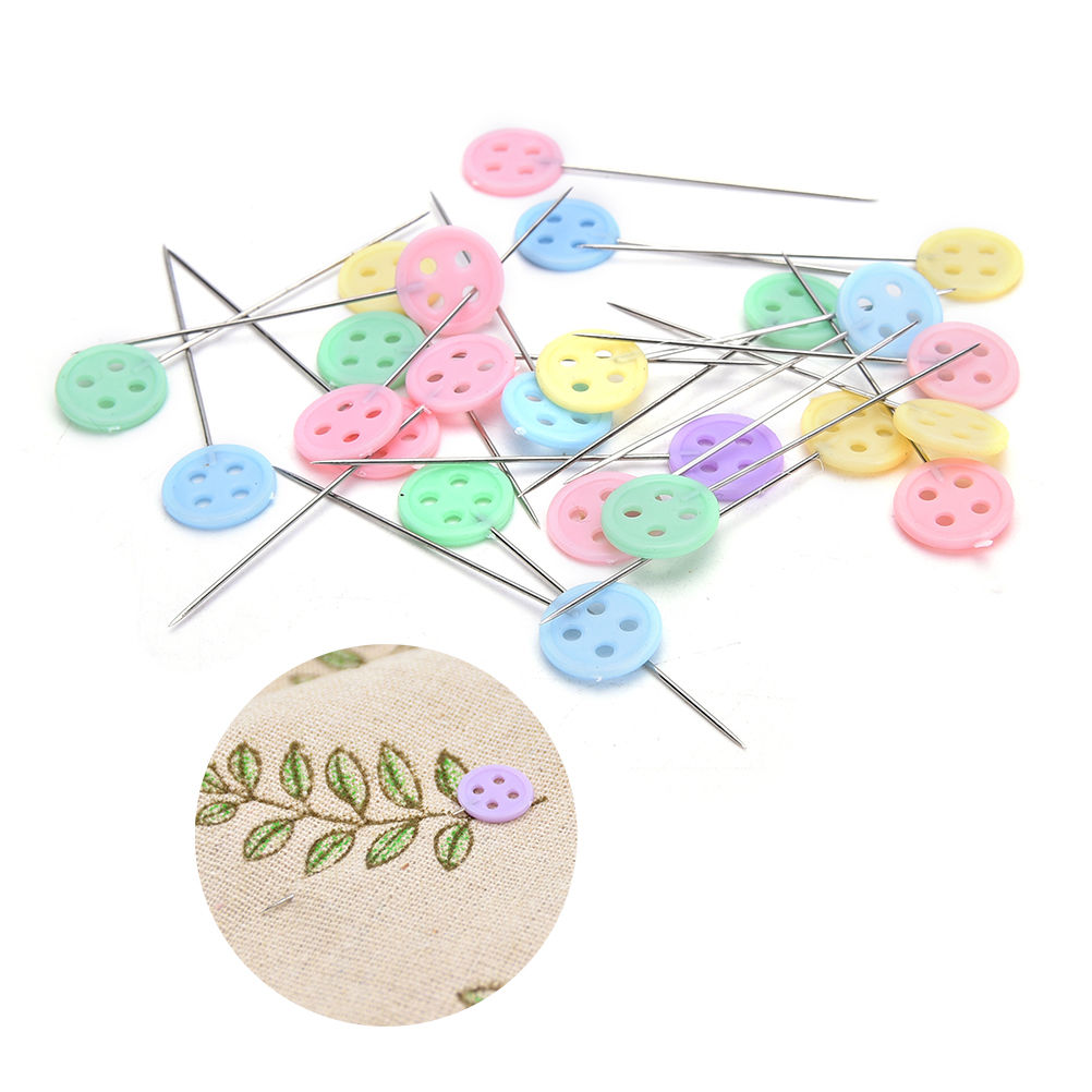 10pcs Multi-color Clip Accessories Patchwork Pins Flower Pin With Box