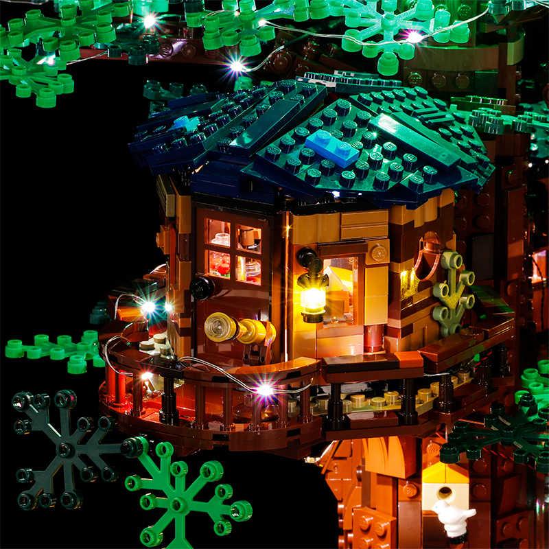 Vonado Para LEGO idéias Criativas 21318 Casa Na Árvore Meninos E Meninas de Luz Montado Blocos de Construção de Brinquedos Educativos Presente das Crianças