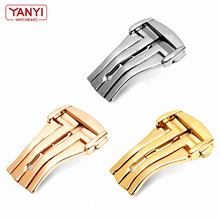 Stainless Steel Watch Bands Buckle For Omg Watch Strap Fold Clasp Use on Leather or Rubber Watchband 18mm 20mm watches bottom