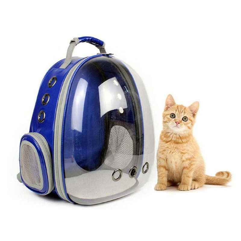 Portable Pet/Cat/Dog/Puppy Backpack Carrier Bubble, New Space Capsule Design 360 degree Sightseeing Rabbit Rucksack Handbag Tran