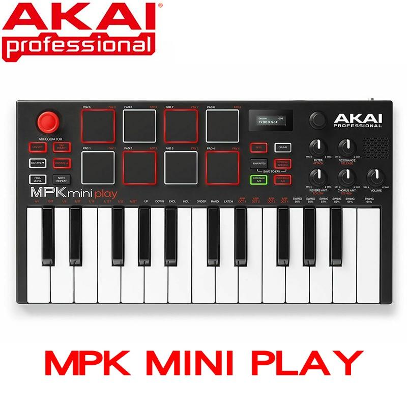 Akai With Mini Play Mini Controller Keyboard With Built-in Speaker New Ultra Portable USB MIDI