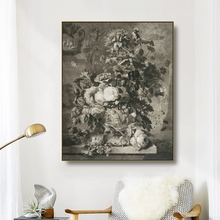 Canvas Art Oil Painting Retro flower plant still life Art Poster Picture Wall Decor Modern Home Decoration For Living room