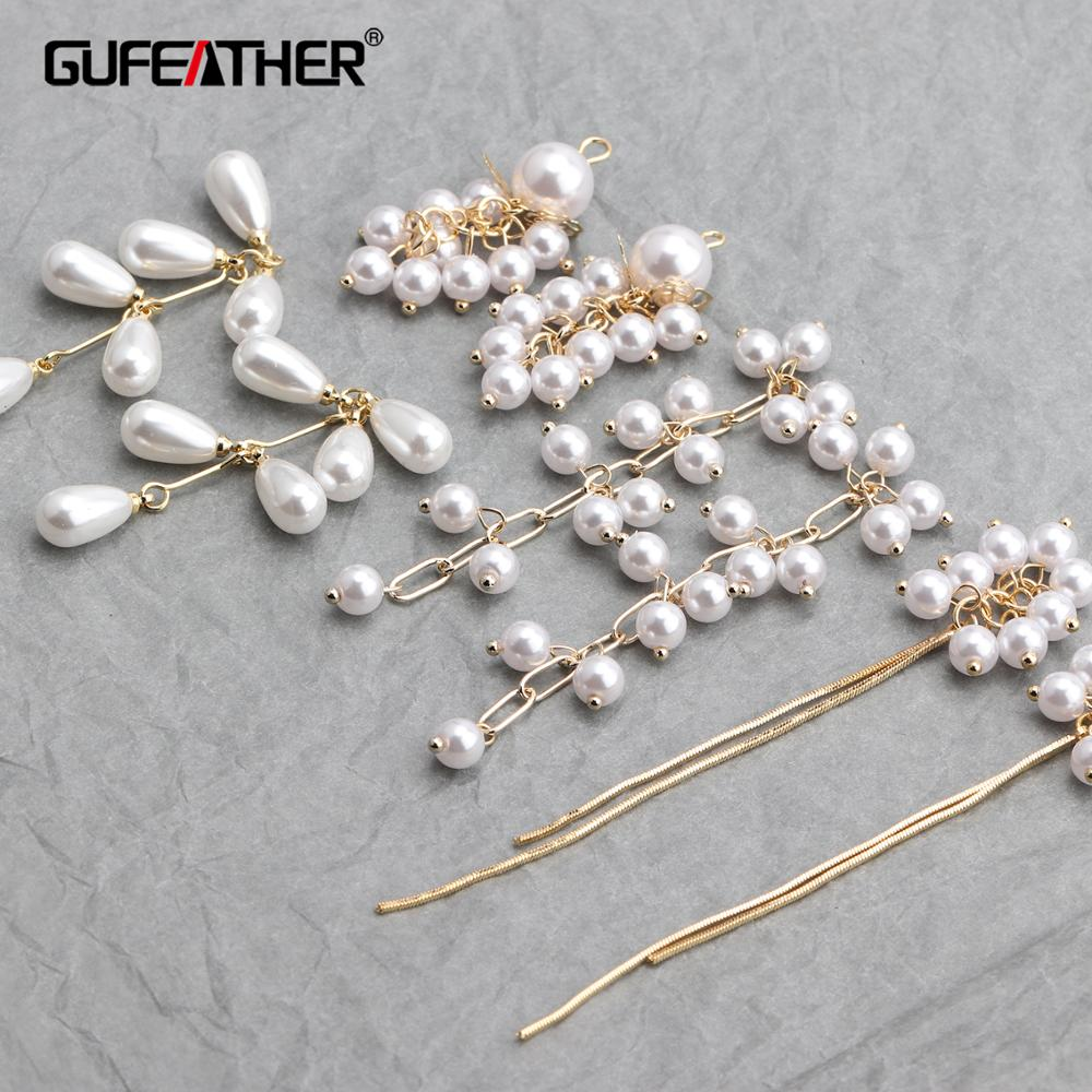 GUFEATHER M640,jewelry Making,ear Chain,diy Beads Pendant,copper Metal,jewelry Findings,hand Made,diy Earrings,6pcs/lot
