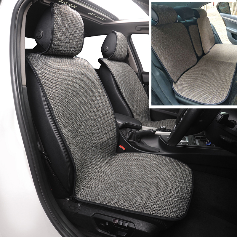 Large Size Flax Car Seat Cover Protector Linen Front or Rear Seat Back Cushion