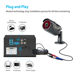 Image 2 - ANRAN 4CH CCTV 시스템 4PCS 1080P 야외 비바람에 견디는 보안 카메라 AHD DVR 키트 주/야간 홈 비디오 감시 시스템