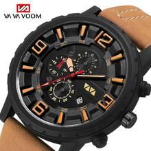 Fashion Sports Watch Men 2019 New Mens Watches Top Brand Luxury Quartz Watch Leather Waterproof Merproof Clock Relogio Masculino