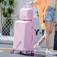 Fashion suitcases and travel bags travel luggage bags with wheels set spinner women studen fashion travelling luggage set
