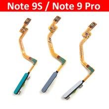 לxiaomi Poco X3 NFC Redmi הערה 9S הערה 9 פרו בית כפתור טביעות אצבע תפריט חזרה מפתח חיישן טביעות אצבע סורק להגמיש כבל