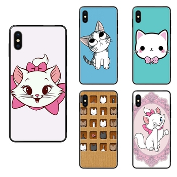 The Cartoon AristoCats Marie Cats Black Soft TPU Ultra Thin Cartoon Pattern For iPhone 11 12 Pro Max Plus Pro X XS Max XR 8 7 image