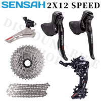 SENSAH 2x12 speed, 24s road bike transmission + carbon fiber shift lever,5800 6800 R7000 R8000