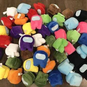 12pc Among Us as Plush Stuffed Soft Dolls Plushie The Squeaks Squeeze Sound Game Toys Kawaii Cotton For Kid Brinquedos Christmas image