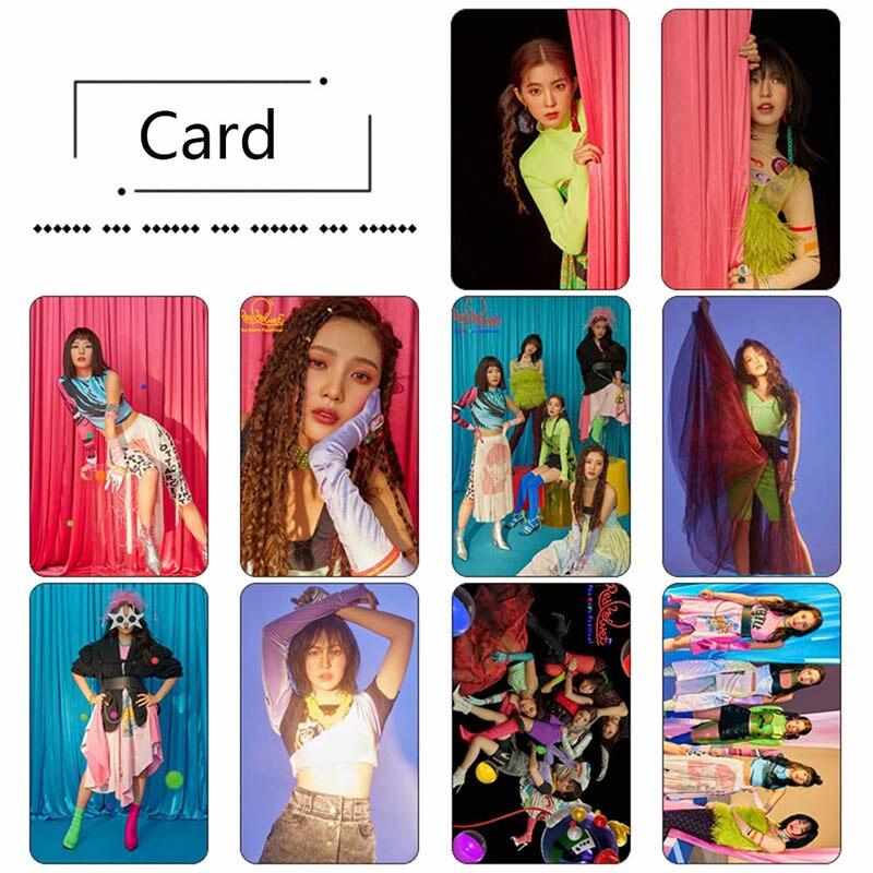 10pcs/set Kpop Red Velvet Perfect Sticky Crystal Photo Card Sticker Photograph LOMO Cards