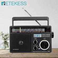 Retekess TR618ポータブルラジオfm、am、sw短波ラジオ受信機デジタルMP3プレーヤー大声ボリュームとハンドル家庭用ガレージ