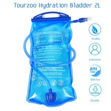 Tourzoo Water Reservoir Water Bladder 2L Hydration Pack BPA Free Easy Clean for Hiking Climbing Cycling Running Bike Backpack