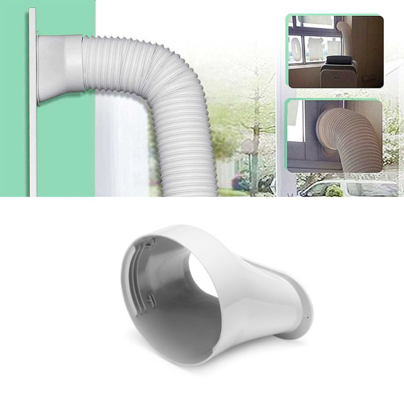 Home Air Conditioner Parts Exhaust Pipe Connector ABS Mobile Air Conditioning Body Exhaust Duct Interface Portable Exhaust Pipe