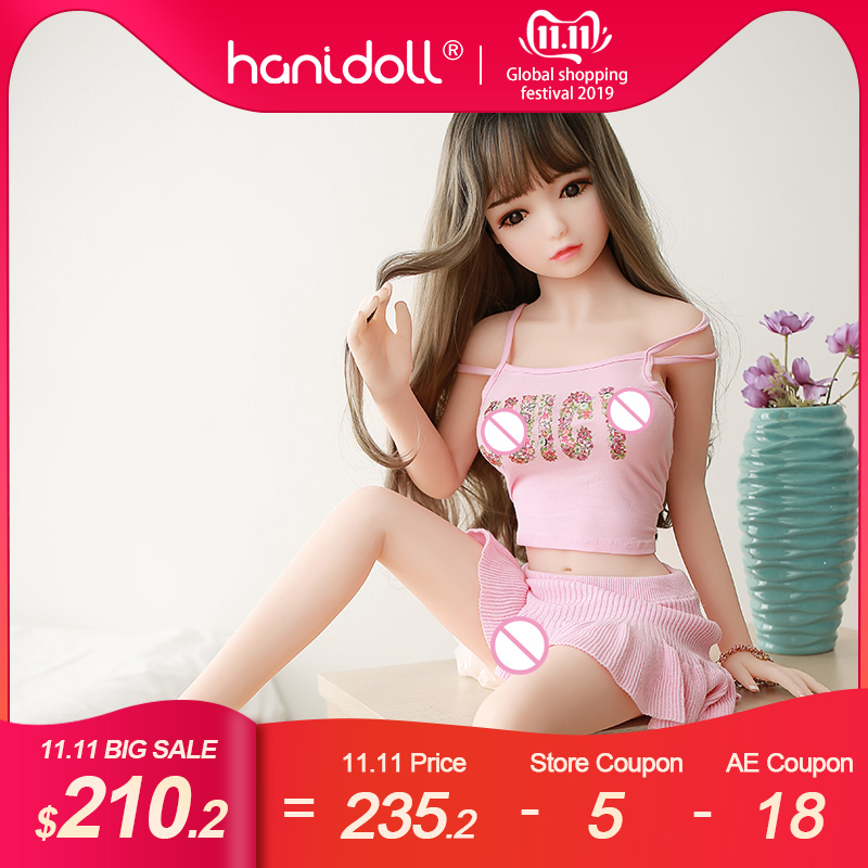 Hanidoll <font><b>Silicone</b></font> <font><b>Sex</b></font> <font><b>Dolls</b></font> 115cm Mini Anime <font><b>Sex</b></font> <font><b>Doll</b></font> Male Love <font><b>Doll</b></font> Realistic Ass <font><b>TPE</b></font> Real Adult Small Loli <font><b>Sex</b></font> <font><b>Doll</b></font> for Men image