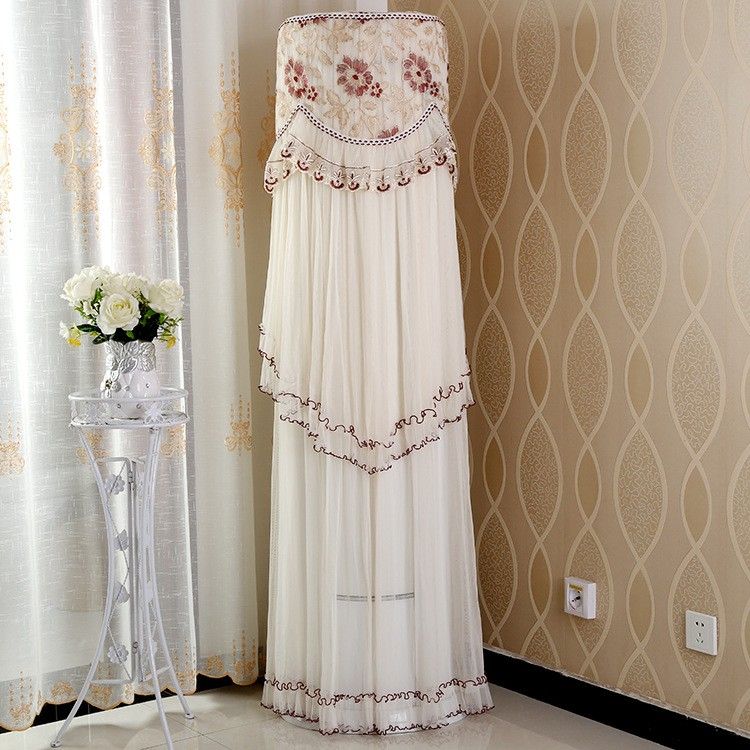 Air conditioning dust cover Lace fabric round air conditioning vertical dust cover beautiful fashion household items