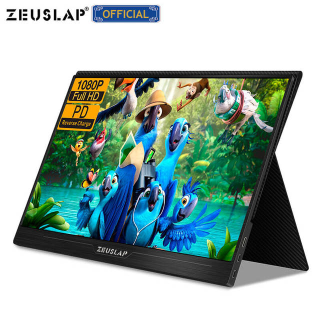 """ZEUSLAP 13.3"""" 15.6"""" HDMI TYPE C 1920*1080P HDR Portable Monitor For Macbook Samsung DEX Switch PS3 PS4 Xbox Raspberry Pi 3 B 2B"""