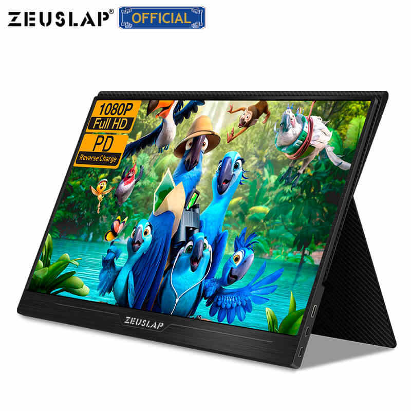 """ZEUSLAP 13.3 """"15.6"""" HDMI typ C 1920*1080P HDR przenośny monitor dla Macbook Samsung DEX przełącznik PS3 PS4 Xbox Raspberry Pi 3 B 2B"""