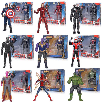 5pcs lot marvel movie masks avengers hulk captain america batman spiderman ironman party mask boy gift action figures toys e Marvel Avengers Toys Thanos Hulk Buster Spiderman Iron Man Thor Wolverine Black Panther Action Figure Toys For Children's gifts