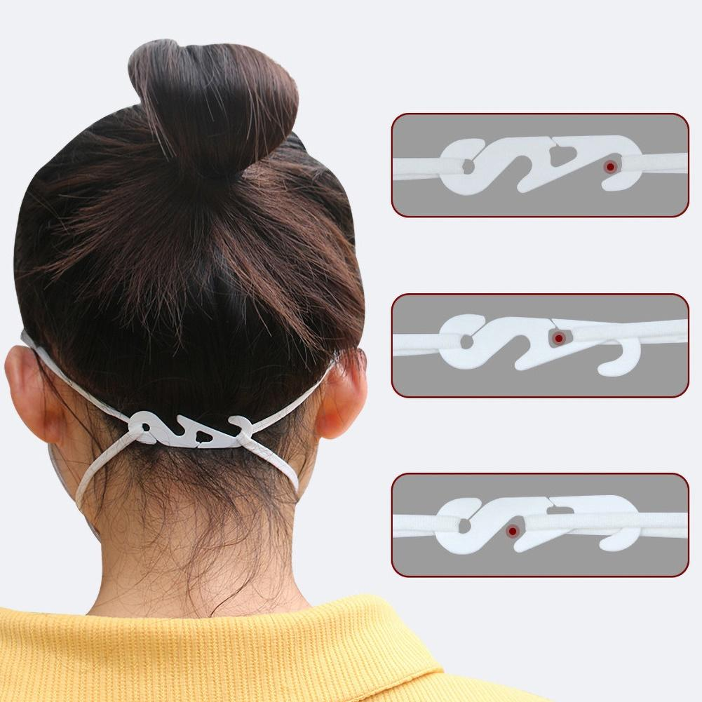100Pcs Adjustable Non-slip Face Mask Ear Hooks Buckle Earache Fixer Mask Ear Grip Extension Hook Face Masks Buckle Holder