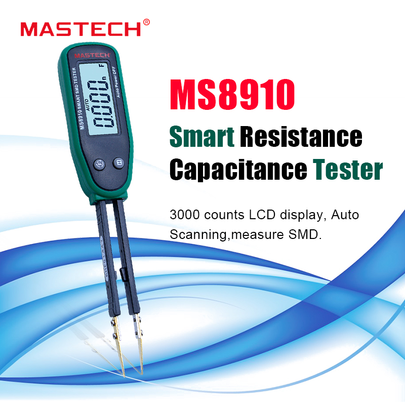 Mastech MS8910 Smart SMD Tester RC Resistor Capacitor Diode Meter Multimeter