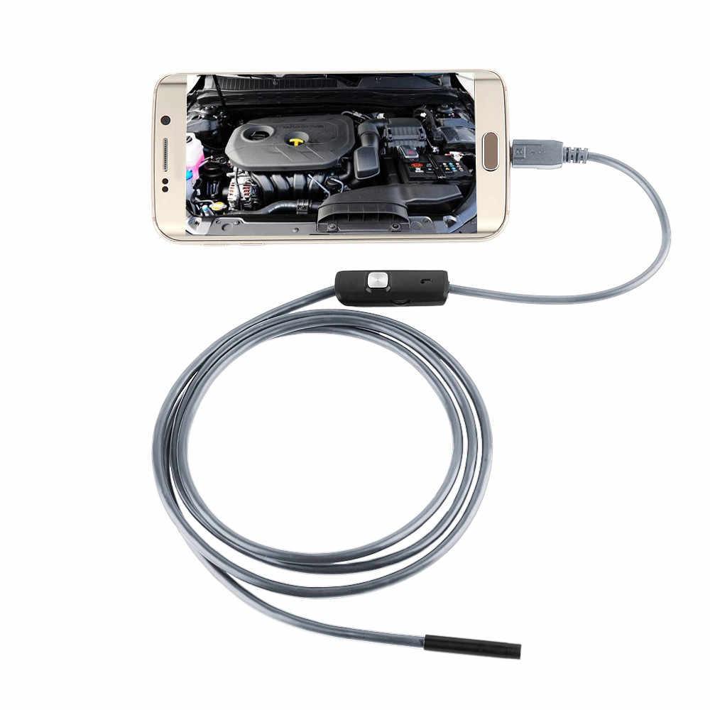20 #5.5 Mm Lensa Android Endoskopi Kamera Semi Kaku Hard Kabel Lampu LED Borescope Inspeksi Kamera untuk PC android Kamera Ponsel