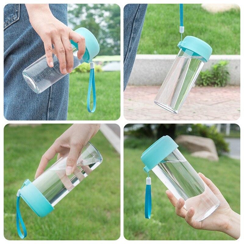 50 шт., портативная детская бутылка для воды, Подарочная рекламная чашка, заказной логотип, прозрачная Спортивная пластиковая чашка для воды,... - 2