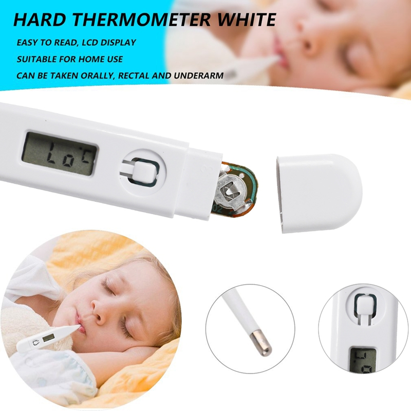 1pc Round Head Digital Electronic Thermometer Baby Thermometer Square Head Oral Electronic Thermometer Safe And Accurate