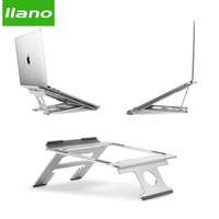Silver Aluminum Laptop Stand Tablet Stand Universal for Apple MacBook Air Pro 11 15 inches Folding Adjustable Office Notebook|Laptop Stand| |  -