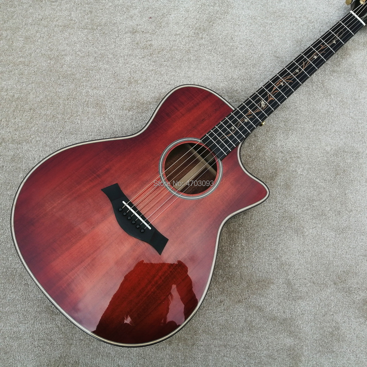 2019 OEM Choylar k24ce koa guitare acoustique classique, 6 cordes 916 guitare électrique, ébène Fretboard, livraison gratuite