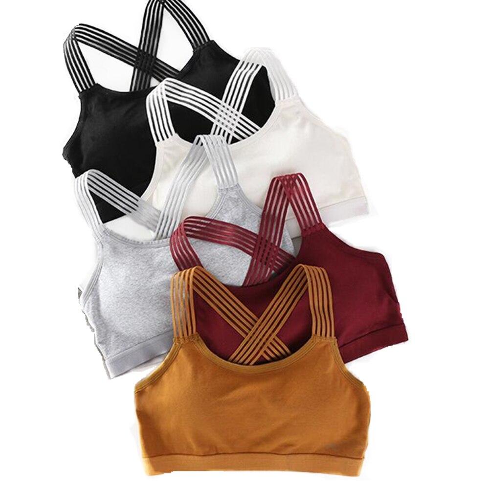 Nahtlose Sport-Bh Frauen Fitness Top Gym Yoga Bh Stoßfest Push-Up Sport-Bh Laufen Yoga Gym Crop Top Junges mädchen Sportswear