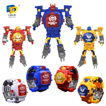 Deformation Robot Body Action Trasformation Wristwatch Toy Kids Electronic Watch Creative Gifts Educational Fold