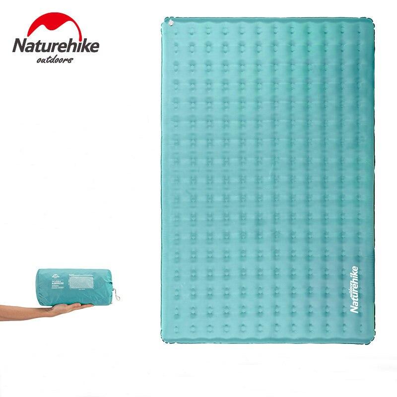Naturehike 40D нейлоновый ТПУ надувной спальный коврик износостойкий водонепроницаемый Двухместный воздушный матрас для кемпинга и пешего туриз
