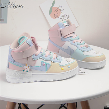 Autumn Winter New Women's High-Top Sneakers No decoration Fashion Increased Women's Platform Casual Shoes Couple Sneakers W631