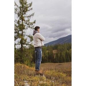 Image 4 - سيموود 2020 خريف شتاء جديد بنطلون جاكيت من الصوف الرجال حجم كبير شيربا تيدي سترة عالية الجودة حجم كبير معاطف SI980742
