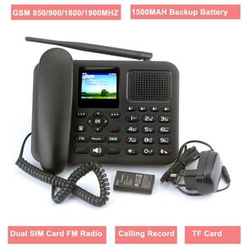 GSM Fixed Wireless Phone Telephone with Colorful LCD Dual SIM Card Calling Record FM Radio MP3 Multi Language IMEI Editable 1