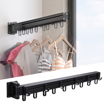 Laundry rack with wall mount 5