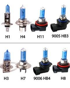 Image 2 - 55W H1 H3 H4 H7 H8 H9 H11 HB3 HB4 9006 Halogeen Lampen 5000K Super Heldere Witte Auto licht Halogeen Lamp Koplamp Mistlampen