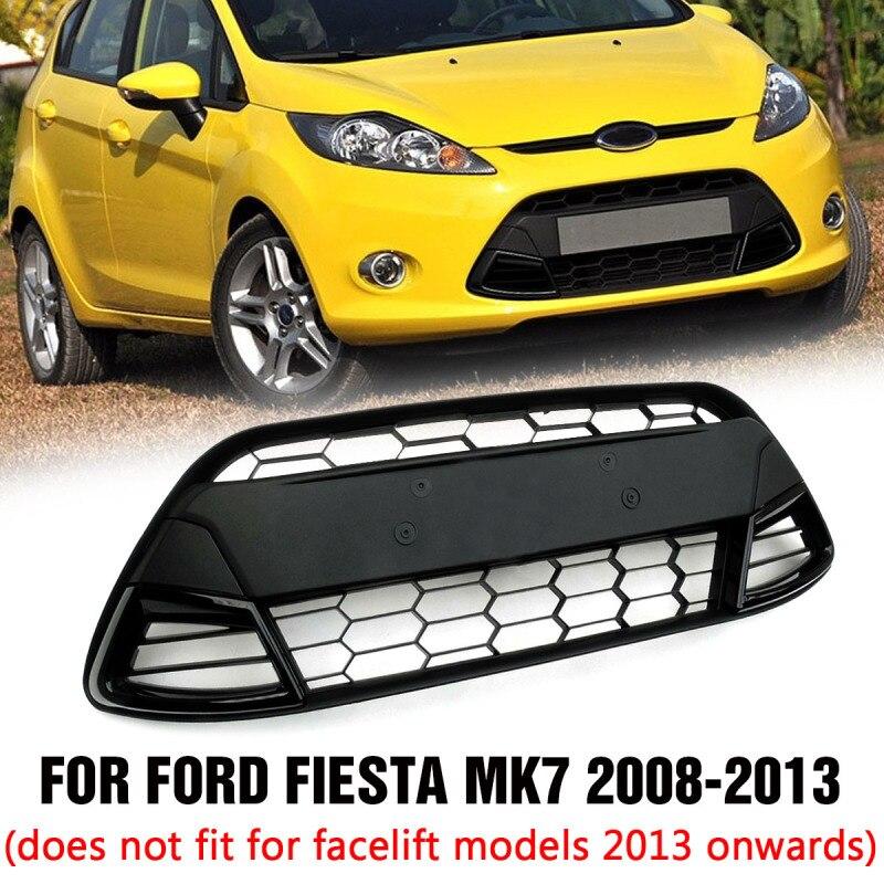 Ford Fiesta MK7 Noir Brillant Zetec S Nid d/'Abeille Avant GRILLES /& Fog Light Covers